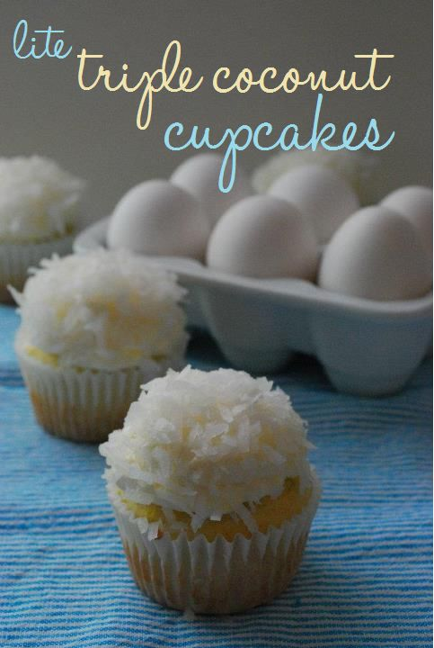 Lite Triple Coconut Cupcakes--easily THE BEST coconut cupcakes EVER. And lower fat, too!: Shredded Coconut, Cakes Cupcakes, Snowballcak Png 483 720, Coconut Cakes, Sweet Tooth, Lite Coconut, Triple Coconut, Baking, Coconut Cupcakes Yesssss
