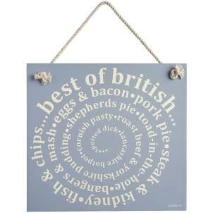 Zed & Co Wooden Sign 'Best Of British' - Amour Decor - 1