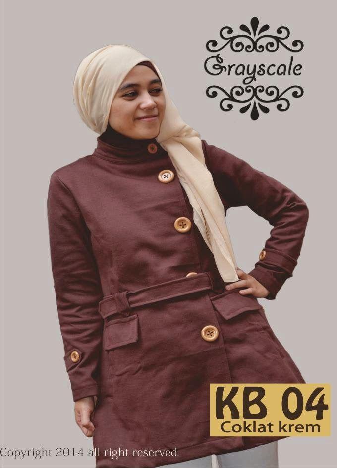 JAKET MUSLIMAH: Jaket Muslimah Blazer Coklat