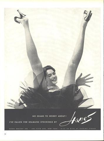 Hanes Seamless Stockings Page LIFE September 13 1954