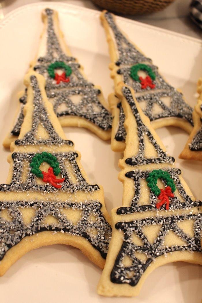 Eiffel Tower Cookies. #christmas