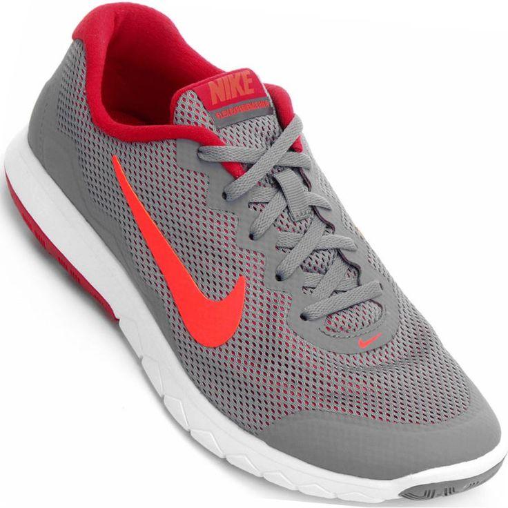 Tênis Nike Flex Experience RN 4 Masculino Cinza / Vermelho