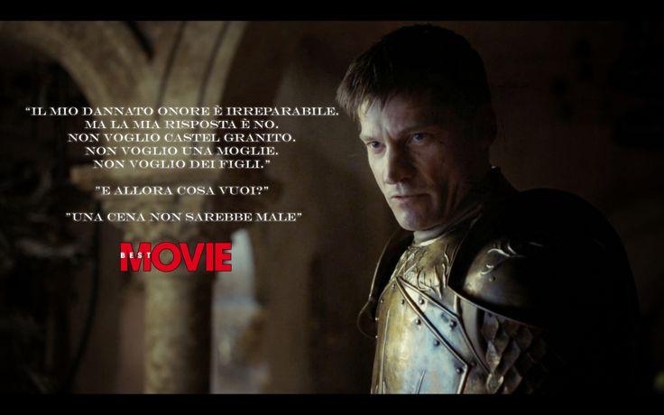"""""""Il mio dannato onore è irreparabile. Ma la mia risposta è no.""""  http://www.bestmovie.it/news/il-trono-di-spade-pro-e-contro-di-two-swords-i-voti-in-anteprima-alla-puntata-4x1/287789/"""
