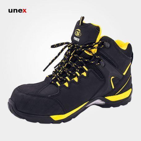 پوتین ایمنی پاور Power پوتین ایمنی چرمی با زیره Pu Safety Shoes Boots Sneakers