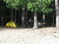 Achray Campground Campsite - looks too far to get to on the first day