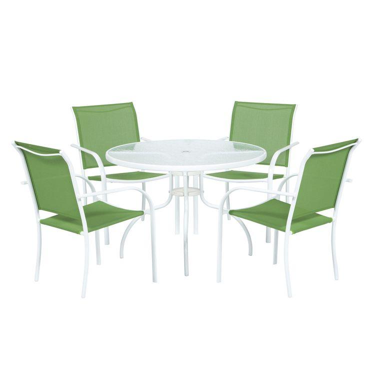 Shop Garden Treasures Pagosa Springs White Sling Seat