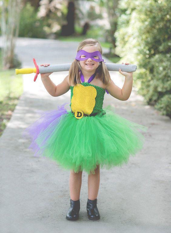 Ninja Turtle Donatello tutu dress. Hey, I found this really awesome Etsy listing at https://www.etsy.com/listing/474805989/ninja-turtle-costume-ninja-turtle-tutu