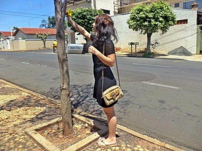 Laiali Safa: Look do dia: Vestido preto de dia