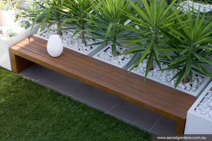 Along front of house when re-do landscaping as a bench/planter in front of dark front bedroom.? Garden Design | Tamarama