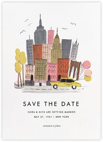 Save the Date #3: Destination: New York (Save the Date) - Paperless Post
