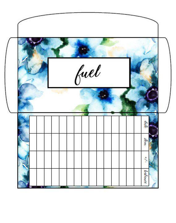 Blue Floral- Cash Envelopes- Budgeting Envelopes- Dave Ramsey