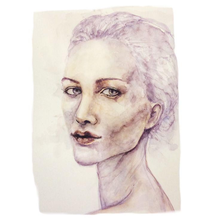 #Watercolor #portrait