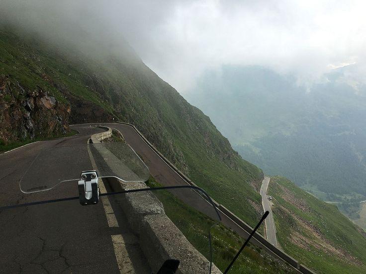 Across the mountain Timmelsjoch