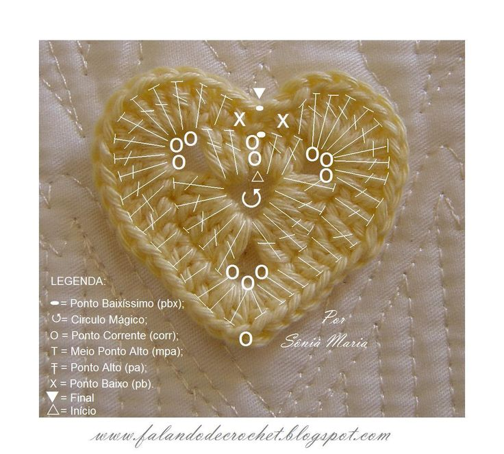 Easy crochet heart