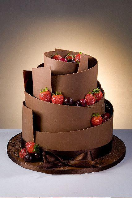 tarta de boda de chocolate