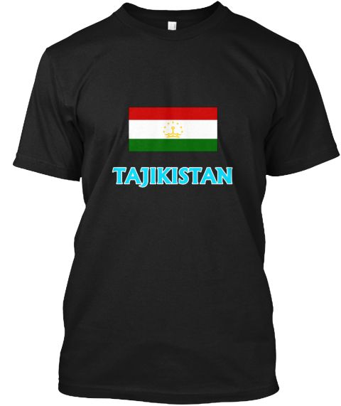 Tajikistan Flag Classic Blue Design Black T-Shirt Front - This is the perfect gift for someone who loves Tajik. Thank you for visiting my page (Related terms: I Heart Tajikistan,Tajikistan,Tajik,Tajikistan Travel,I Love My Country,Tajikistan Flag, Tajikistan  #Tajik, #Tajikshirts...)