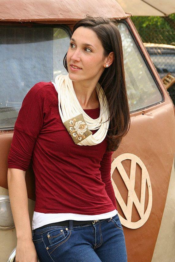 Women multi strand infinity scarf  circle scarf  loop от MatyoKid, $42.00