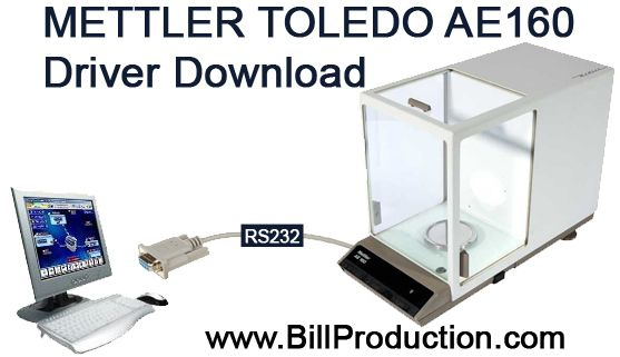 Scale Mettler Toledo RS232 AE160 Driver download http://www.billproduction.com/Bill_Redirect_scale.pdf