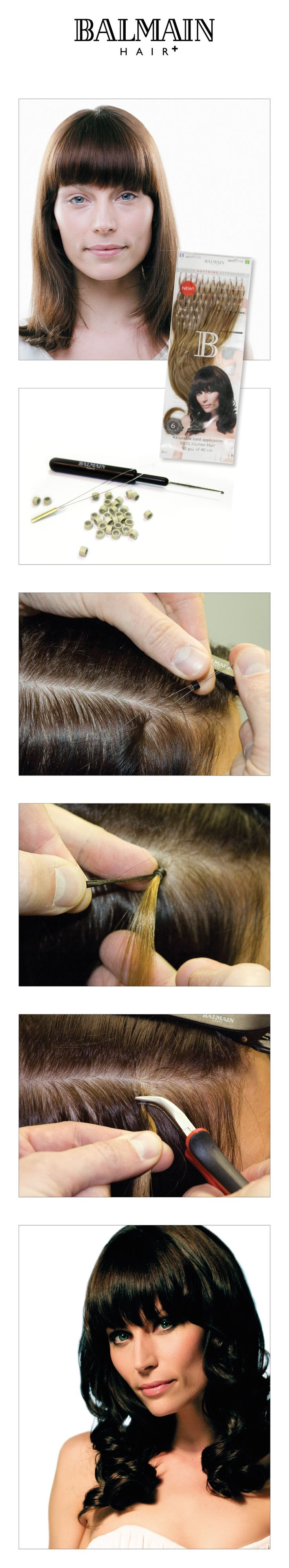 Want to create a fuller hairdo? Use Fill-in Extensions of Balmain Hair!