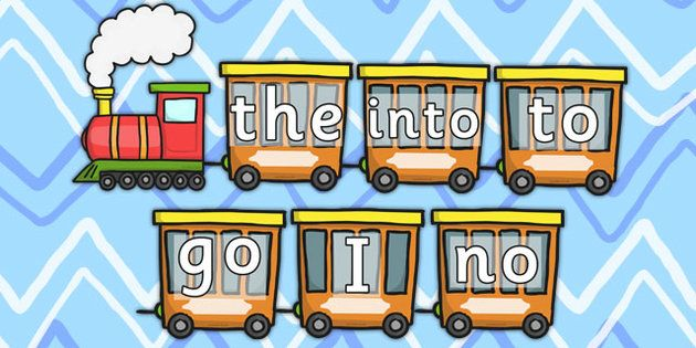 Phase 2 Phonics Tricky Words Train