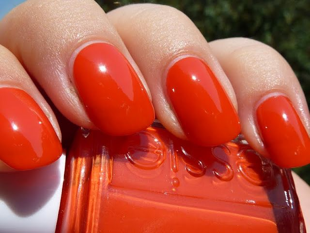 Essie - Meet me at sunset. The most perfect orangey- red color for summer