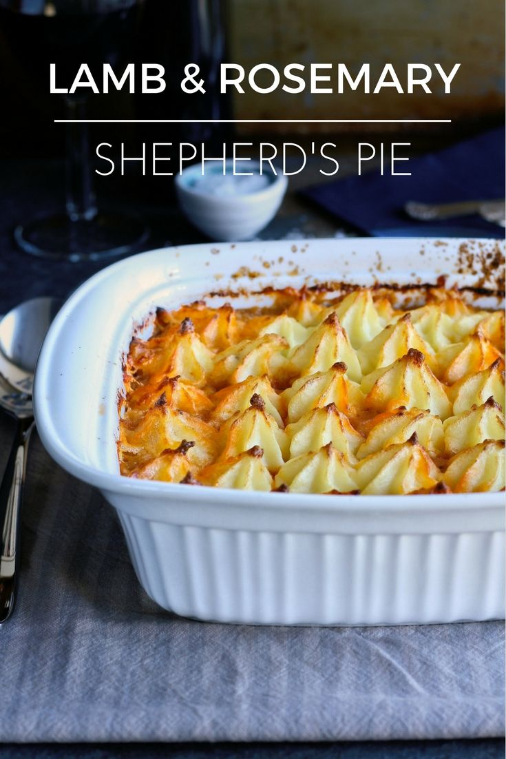 Classic lamb and rosemary shepherd's pie.
