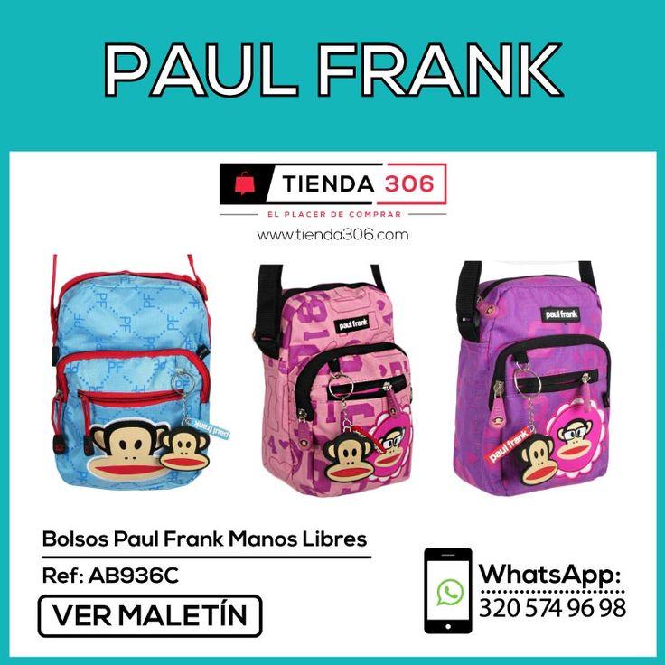 Diseño moderno con 3 Compartimientos - Bolsos Paul Frank Manos Libres Ref.: AB936C 📞 320 574 96 98 Ver Más:  http://bit.ly/2ATmR8f