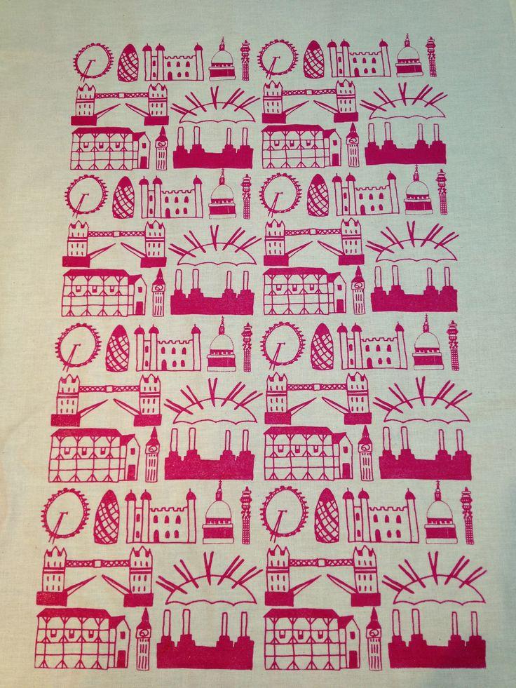 Screen printed tea towels by Clementine & Bloom