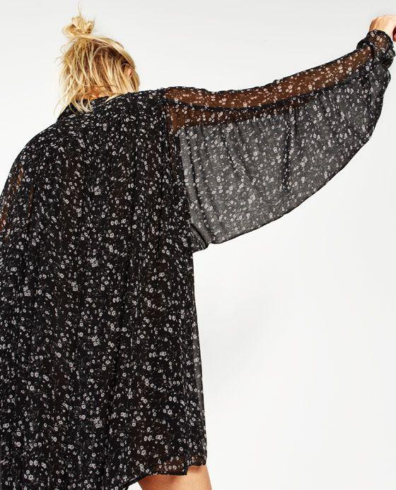 Image 7 de COMBI-SHORT À MANCHES AMPLES de Zara