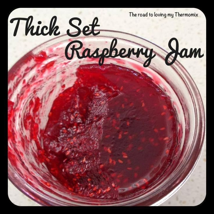 The road to loving my Thermomix: Thick Set Raspberry Jam