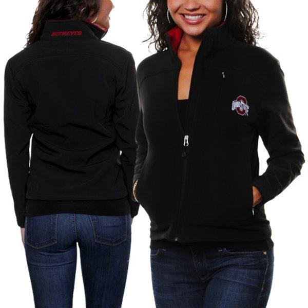 Ohio State Buckeyes Full Zip Softshell Jacket - Black $89.95