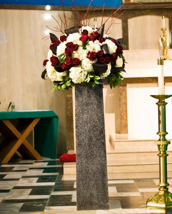 Simple Church Altar Decorations: 204 Best Church Wedding Decorations Images On Pinterest