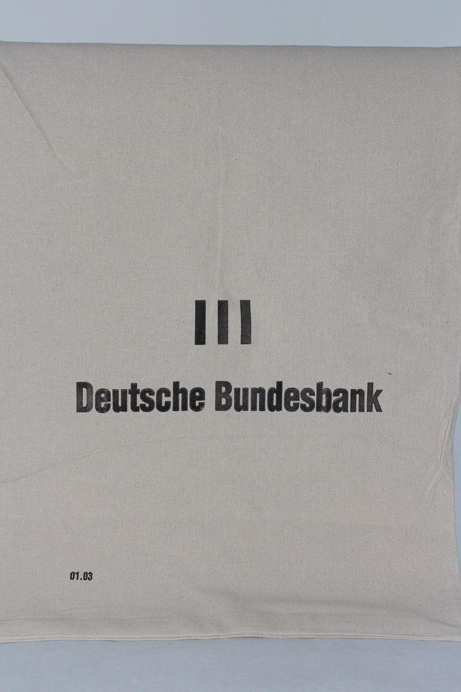 Geldsack Leinensack Deutsche Bundesbank Kaffeesack Geldsäcke Sack Geld