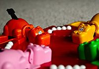 Hungry Hungry Hippos, I won this game when I was in 4th grade. The first thing I ever won.