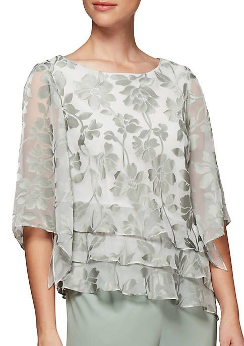 af085a64d9032a Alex Evenings Burnout Top in 2019 | Grandmother of the groom dresses ...
