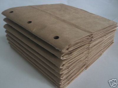 6X6 SEWN paper bag scrapbook albums 8 BROWN books 3 by shmizz, $8.00