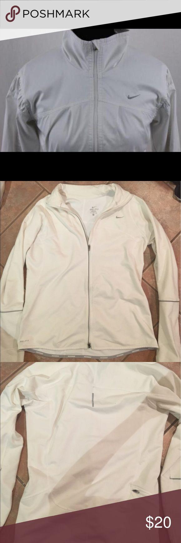 White zip up Nike running jacket White zip up running jacket by Nike Nike Jackets & Coats Utility Jackets