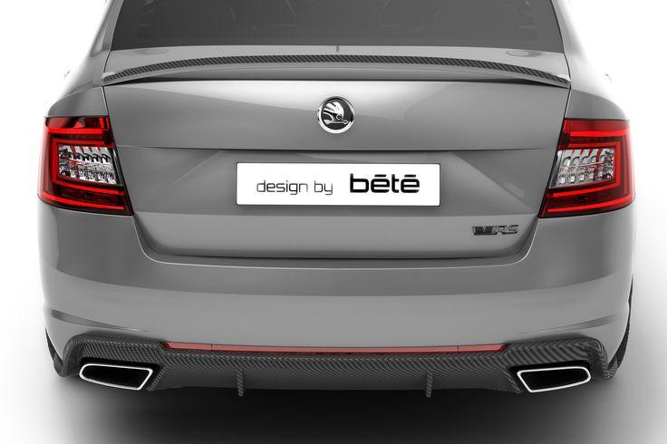 ŠKODA Octavia III RS Carbon Pack. / ŠKODA Octavia III RS s karbonovým paketem. #ŠKODA #Octavia #RS #carbon #karbon #pack #paket #design #bété