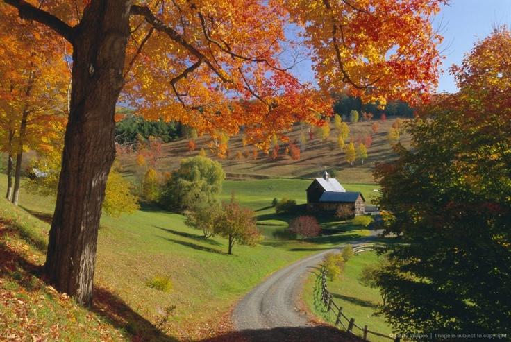 Autumn scene farm vermont new england country scenes - Pics of fall scenes ...
