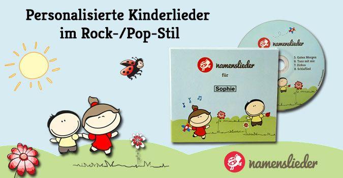 NEU !!! Namenslieder CD mit Kinderliedern personalisiert mit dem Namen des Kindes. Das besondere Geschenk zur Geburt, Taufe oder Geburtstag