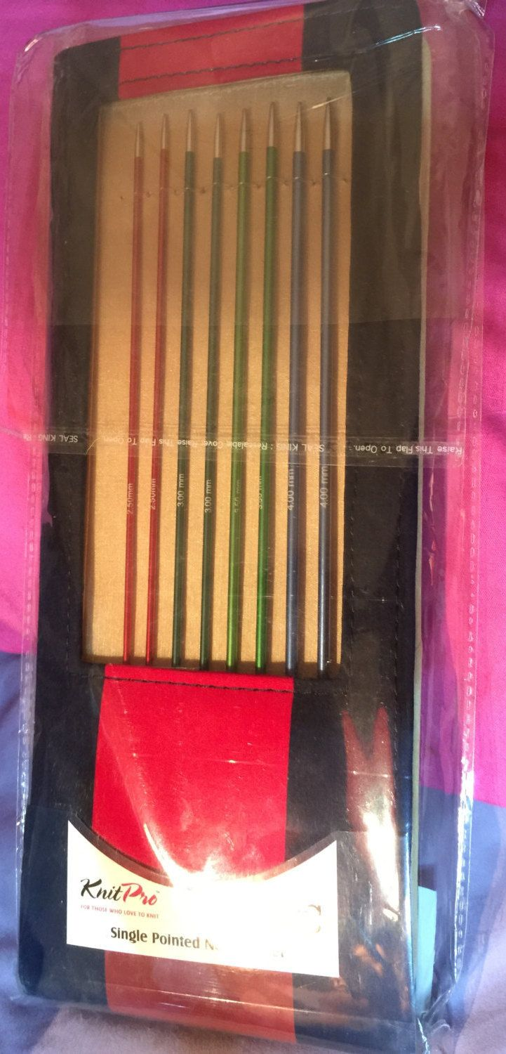 FLASH Price KnitPro ZING 30cm Set of Single Pointed Pairs of Straight Needle Sets 2-6mm Aluminium State of the Art by MagpieLaneCrafts on Etsy