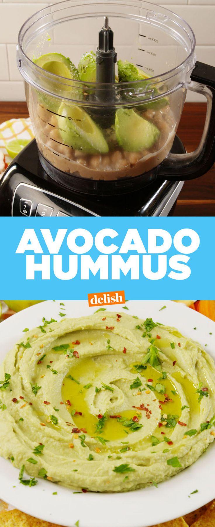 Avocado Hummus - Delish.com