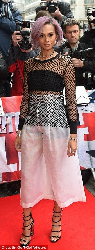 Edgy: The former Mis-Teeq favourite paired her edgy look - perfectly complemented by her n...
