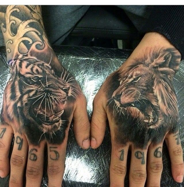17 best images about tattoo designs on pinterest lion for Animal hand tattoos