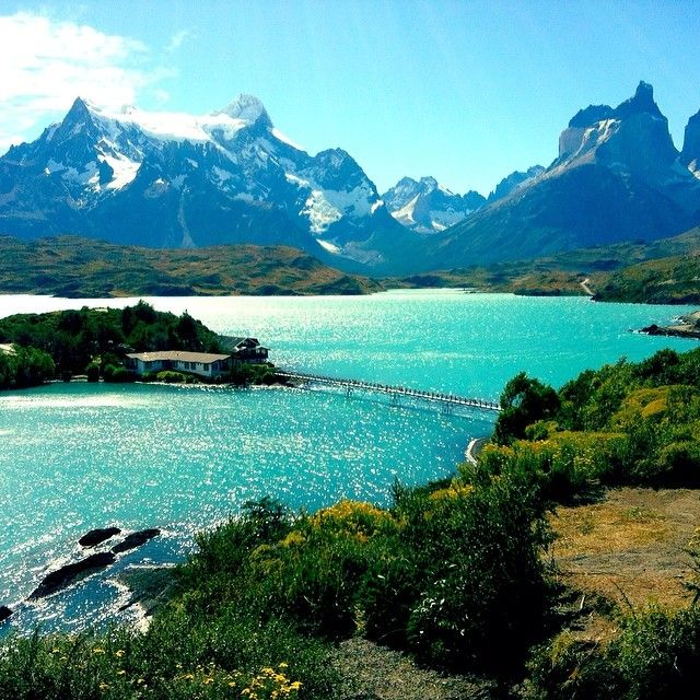 Torres del Paine in Chile. Photo courtesy of analisegetsaround on Instagram.