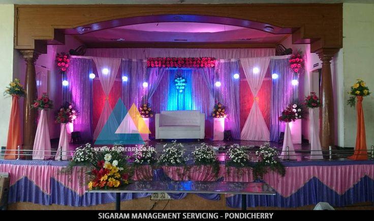 Vinoth Kumar, Prasanna Devi - Wedding Reception decoration done at JVS Mandapam, Tindivanam on 8th May 2015 - http://goo.gl/tnwePZ Address: #259, GGP Complex, Ist floor,  Airport Road, Lawspet, Pondicherry  Mobile: 8190072333, 8190072111 Website: www.sigaram.co.in Email ID: info@sigaram.co.in