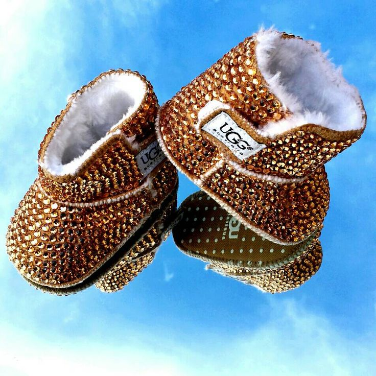 Bedazzled Bling Baby Shoes- Brown boots by SavvyBabyShoes on Etsy www.etsy.com/...
