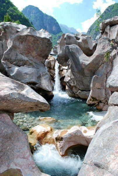 'The Valbona River is justly famous for its dramatic gorges and plunging waterfalls, as well as for the clarity and the beautiful, light blue colour of its water.' Albania: the Bradt Guide www.bradtguides.com