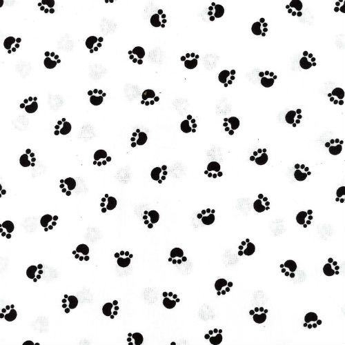 Cats - Spaced Paw Print Black and White