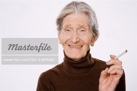 Portraits of old women smoking Stock Photos - Page 1 : Masterfile